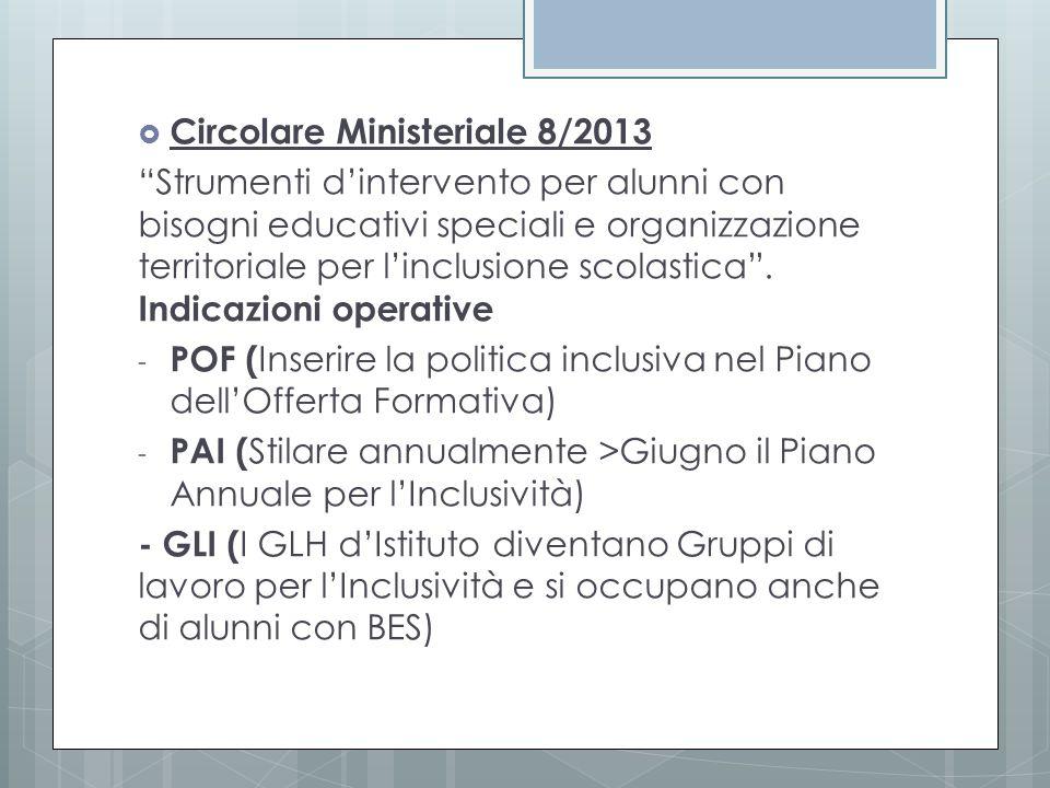 Circolare Ministeriale 8/2013