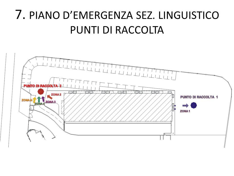 7. PIANO D'EMERGENZA SEZ. LINGUISTICO PUNTI DI RACCOLTA