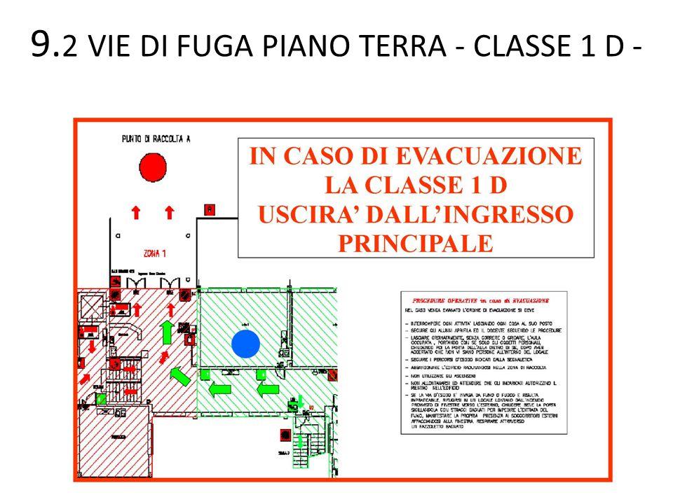 9.2 VIE DI FUGA PIANO TERRA - CLASSE 1 D -