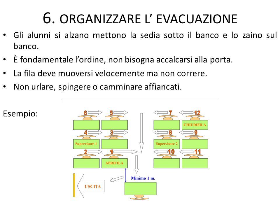 6. ORGANIZZARE L' EVACUAZIONE