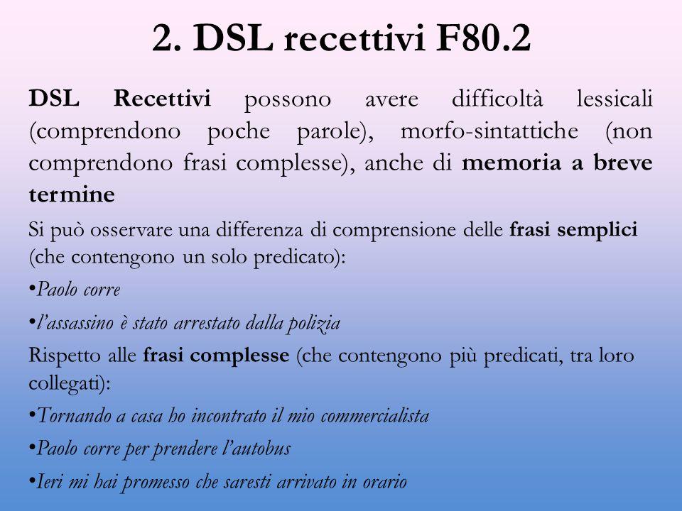 2. DSL recettivi F80.2