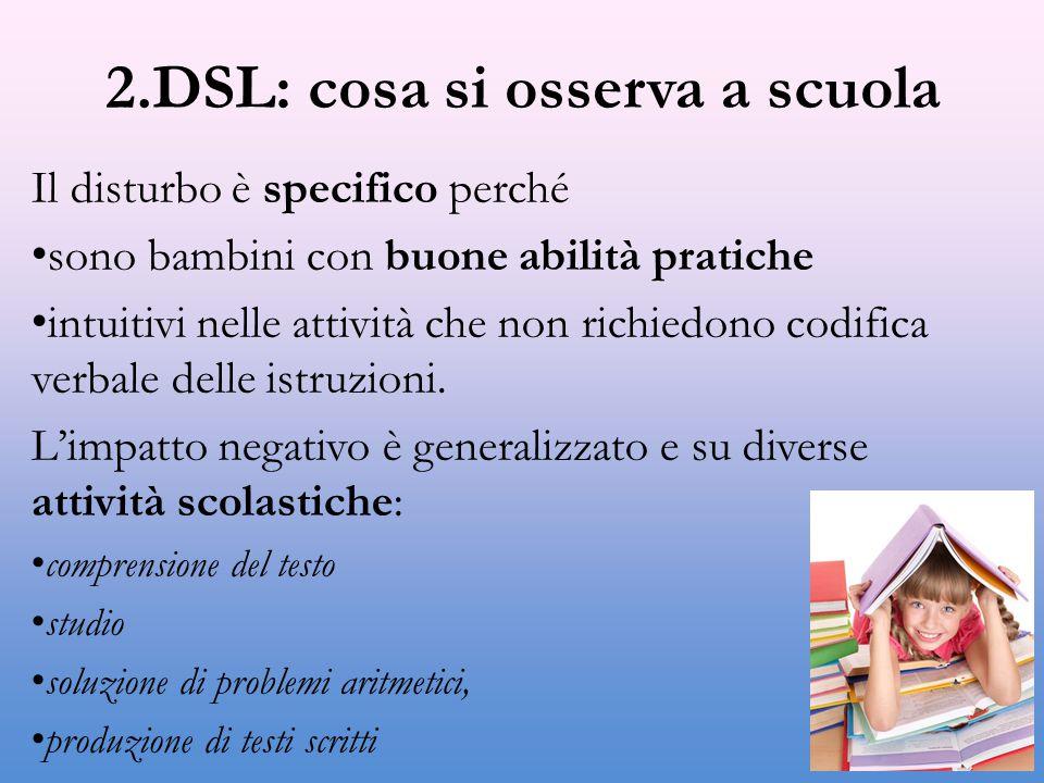 2.DSL: cosa si osserva a scuola