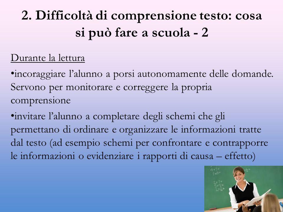 2. Difficoltà di comprensione testo: cosa si può fare a scuola - 2