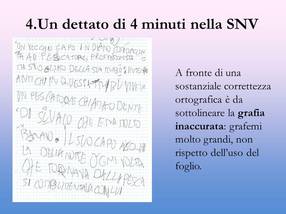 4.Un dettato di 4 minuti nella SNV