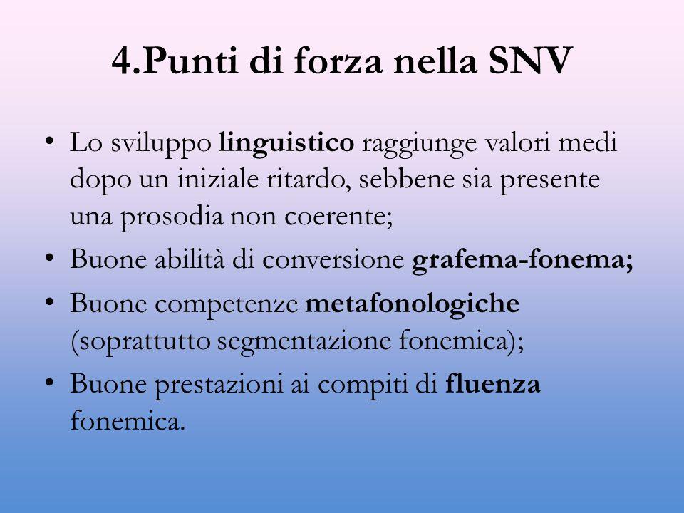 4.Punti di forza nella SNV