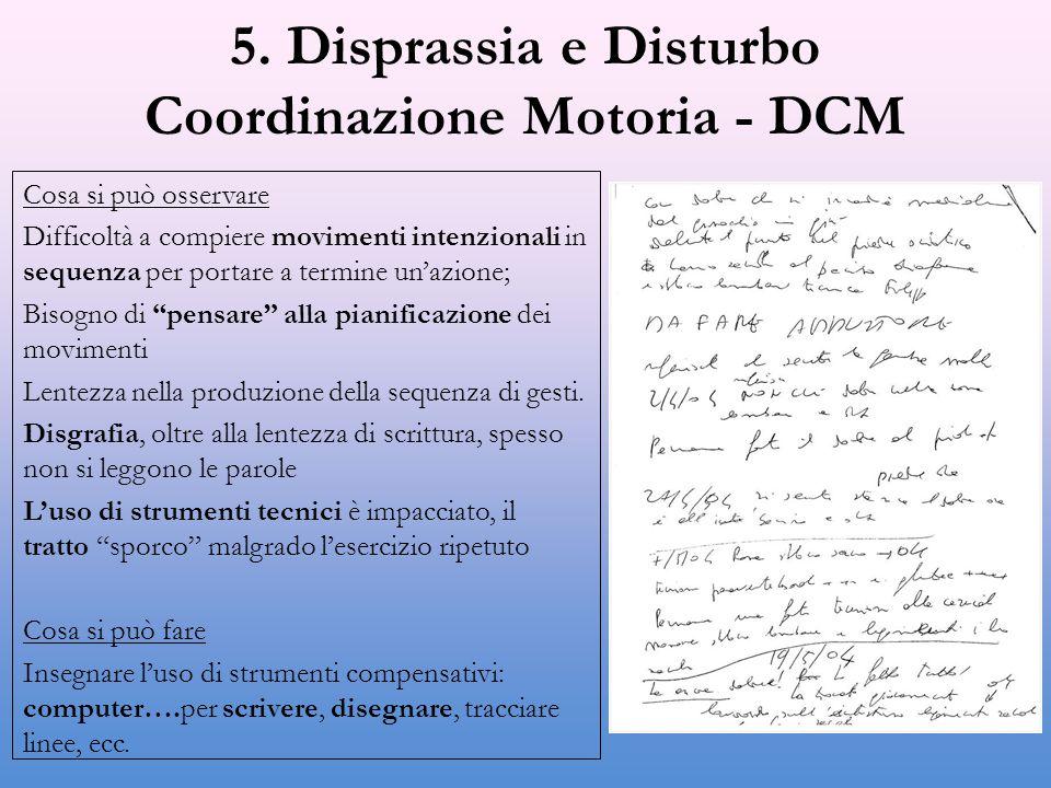 5. Disprassia e Disturbo Coordinazione Motoria - DCM