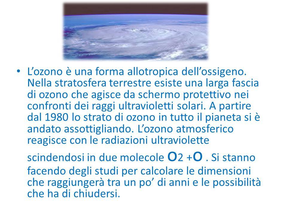 L'ozono è una forma allotropica dell'ossigeno