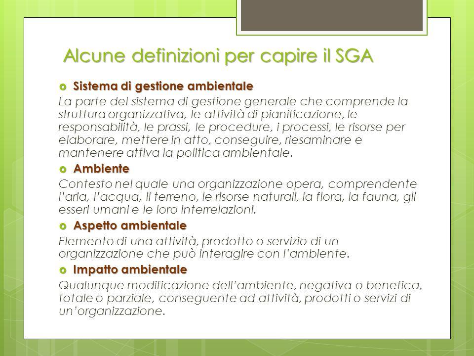Alcune definizioni per capire il SGA