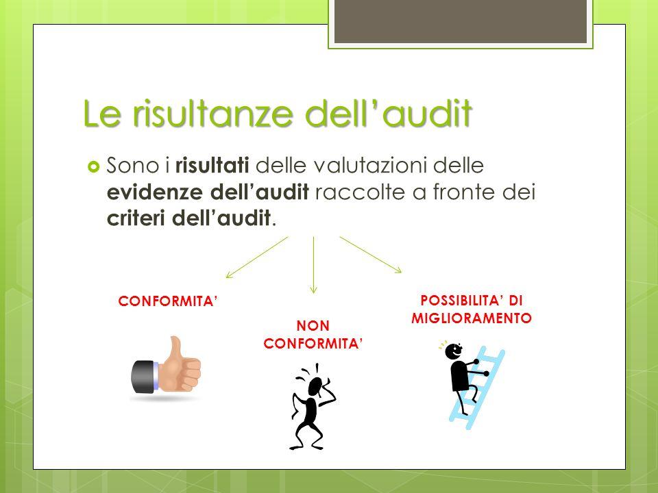 Le risultanze dell'audit