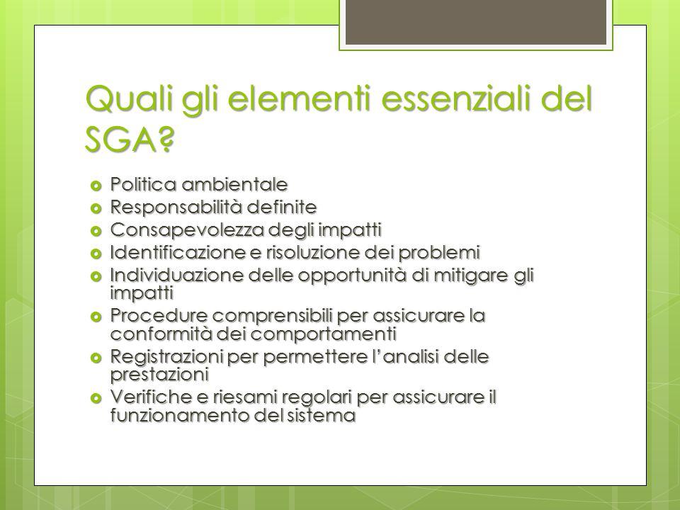 Quali gli elementi essenziali del SGA