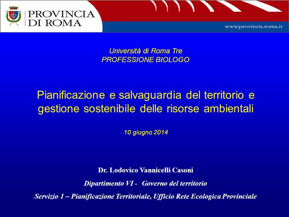 Università di Roma Tre PROFESSIONE BIOLOGO.