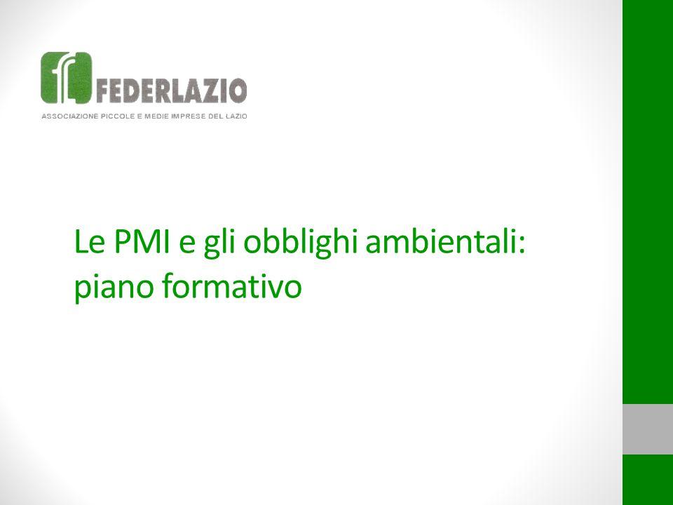Le PMI e gli obblighi ambientali: piano formativo