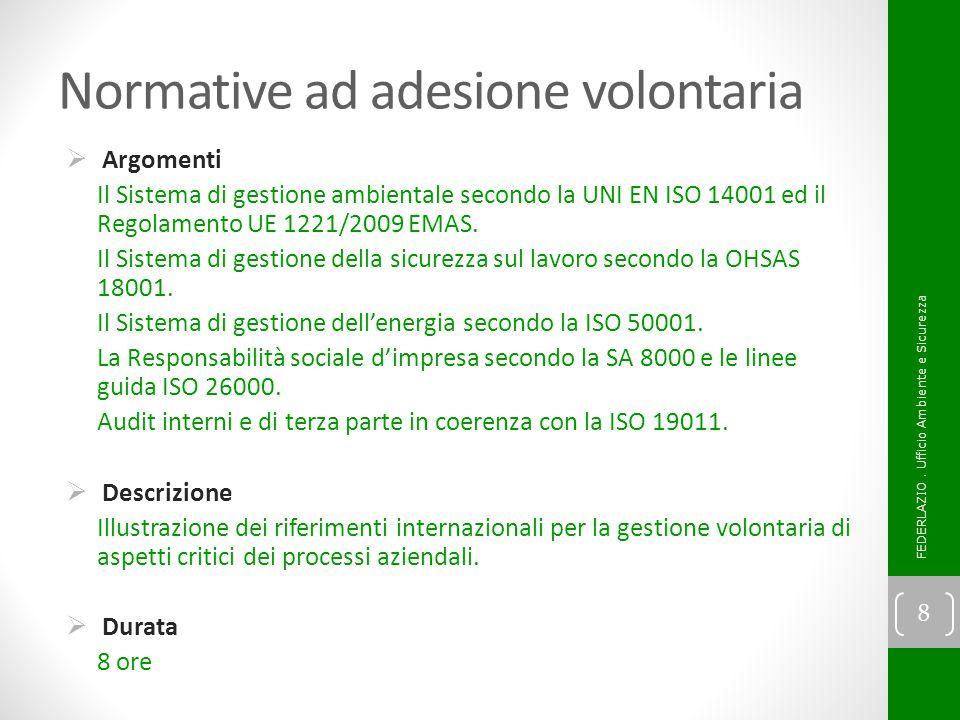Normative ad adesione volontaria