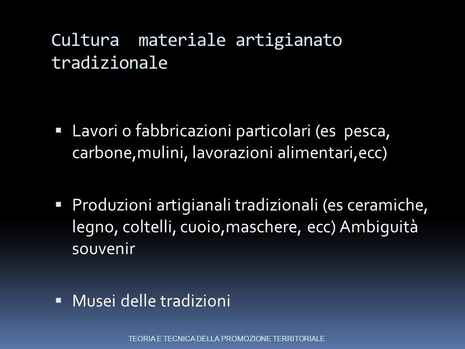 Cultura materiale artigianato tradizionale