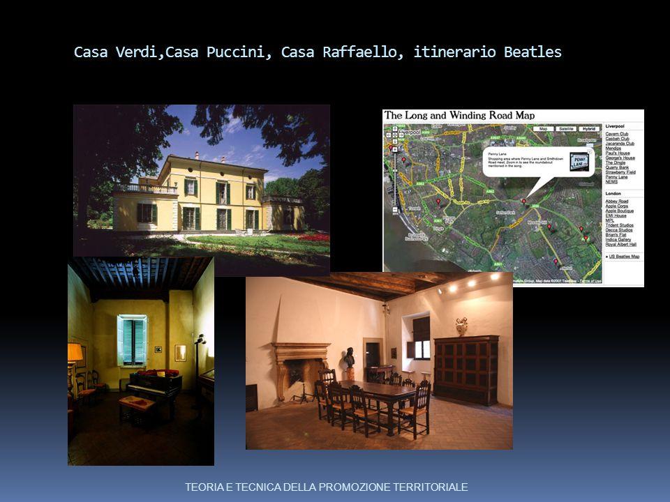 Casa Verdi,Casa Puccini, Casa Raffaello, itinerario Beatles