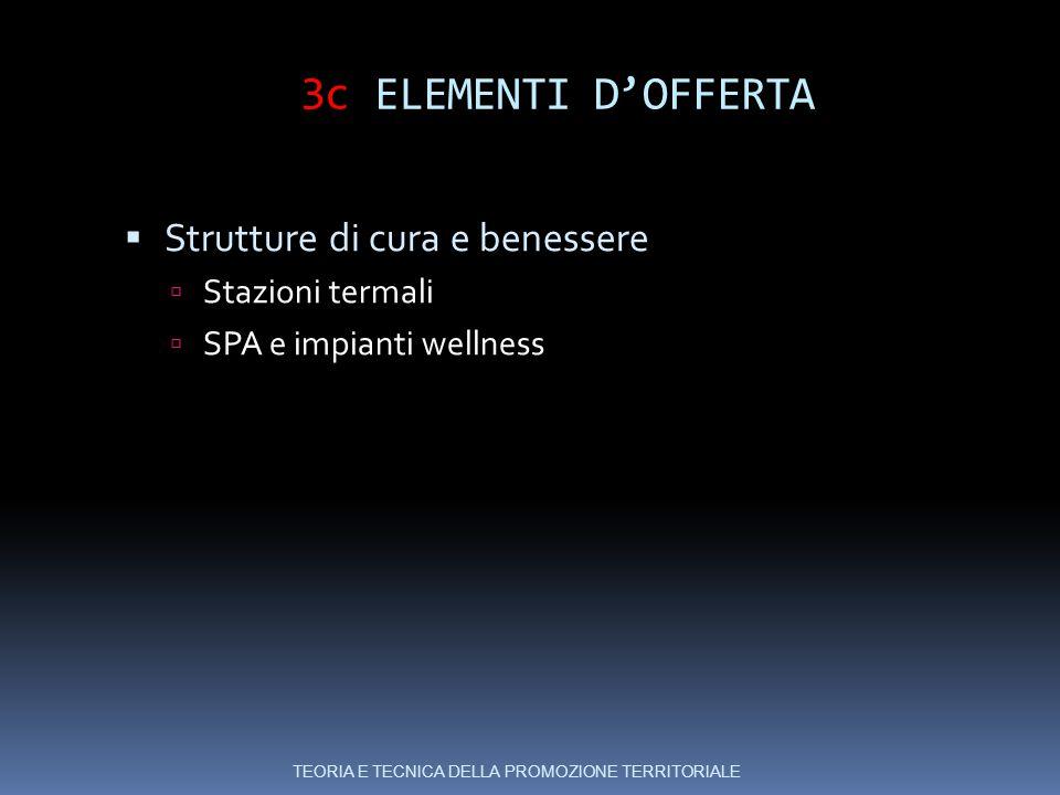 3c ELEMENTI D'OFFERTA Strutture di cura e benessere Stazioni termali