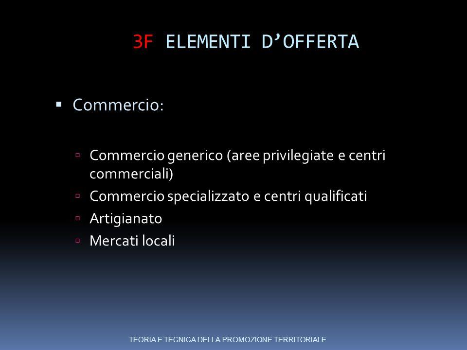 3F ELEMENTI D'OFFERTA Commercio:
