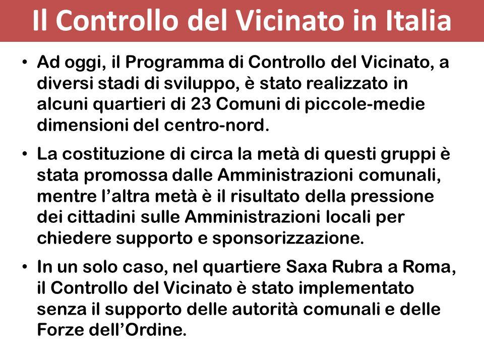 Il Controllo del Vicinato in Italia
