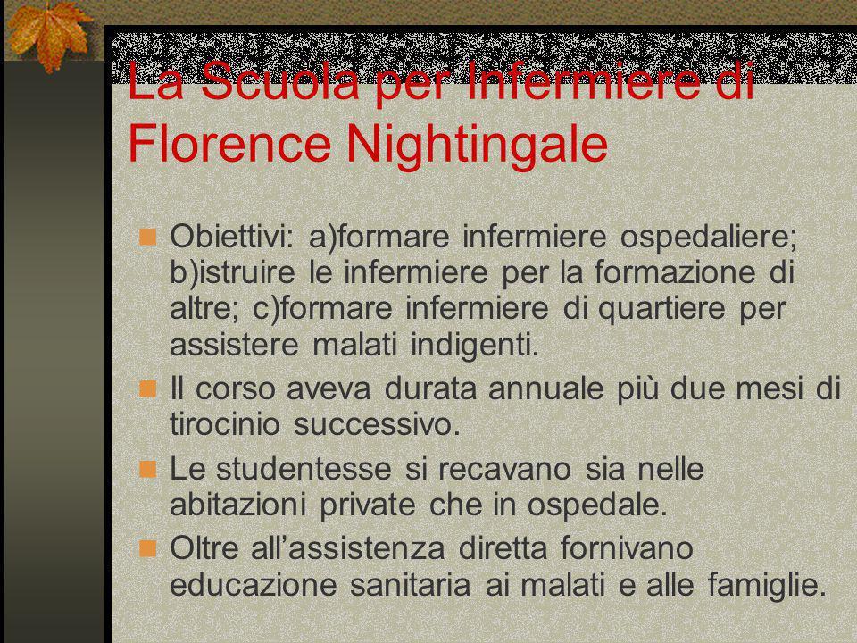 La Scuola per Infermiere di Florence Nightingale