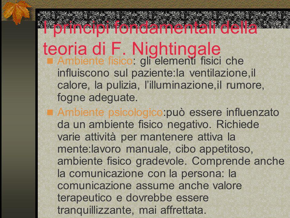 I principi fondamentali della teoria di F. Nightingale
