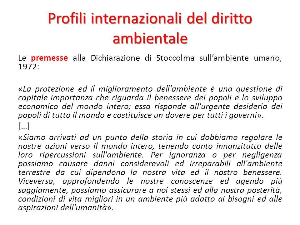 Profili internazionali del diritto ambientale
