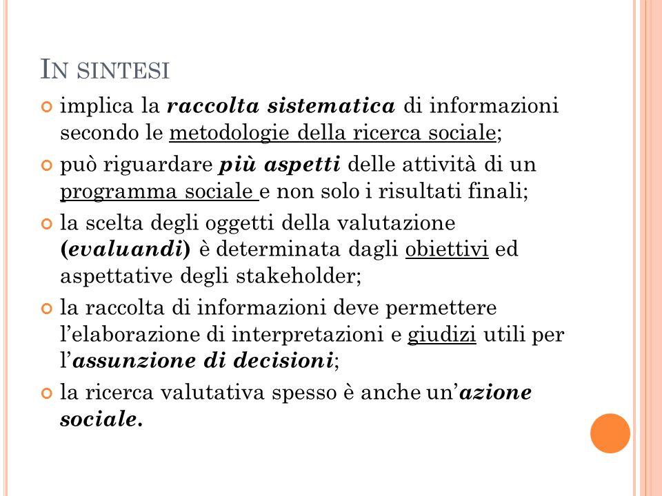 In sintesi implica la raccolta sistematica di informazioni secondo le metodologie della ricerca sociale;
