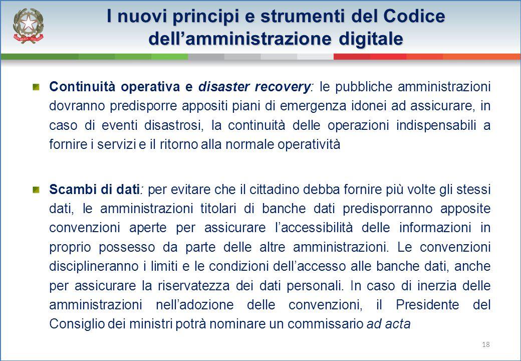 I nuovi principi e strumenti del Codice dell'amministrazione digitale