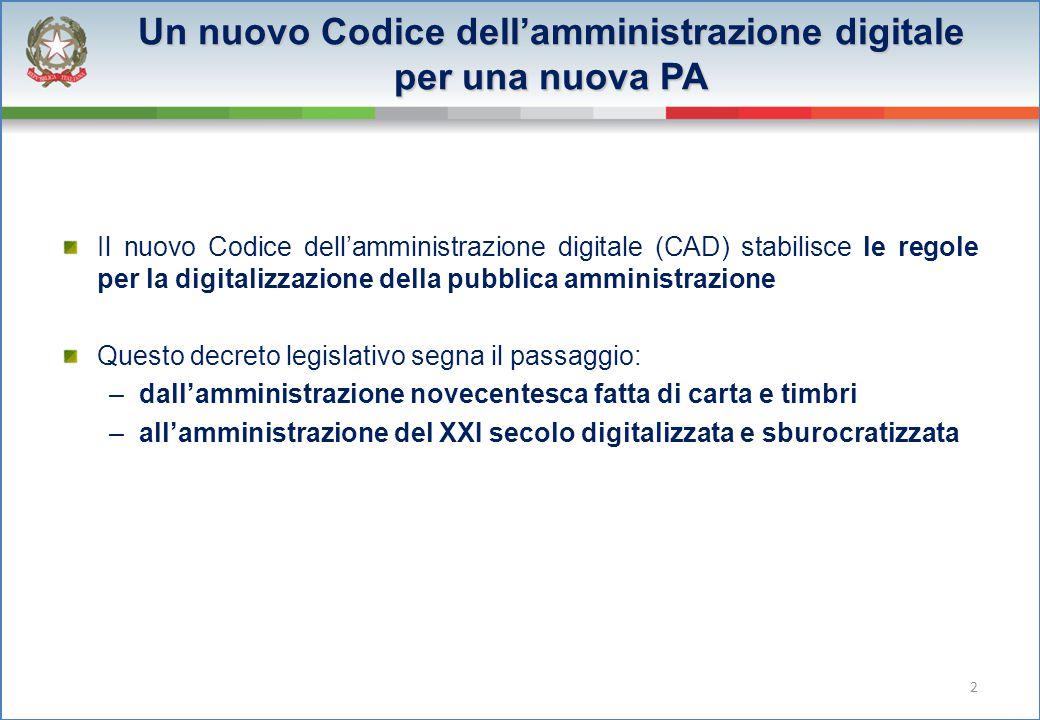 Un nuovo Codice dell'amministrazione digitale per una nuova PA