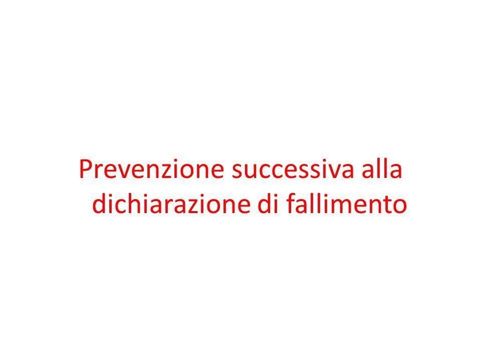 Prevenzione successiva alla dichiarazione di fallimento