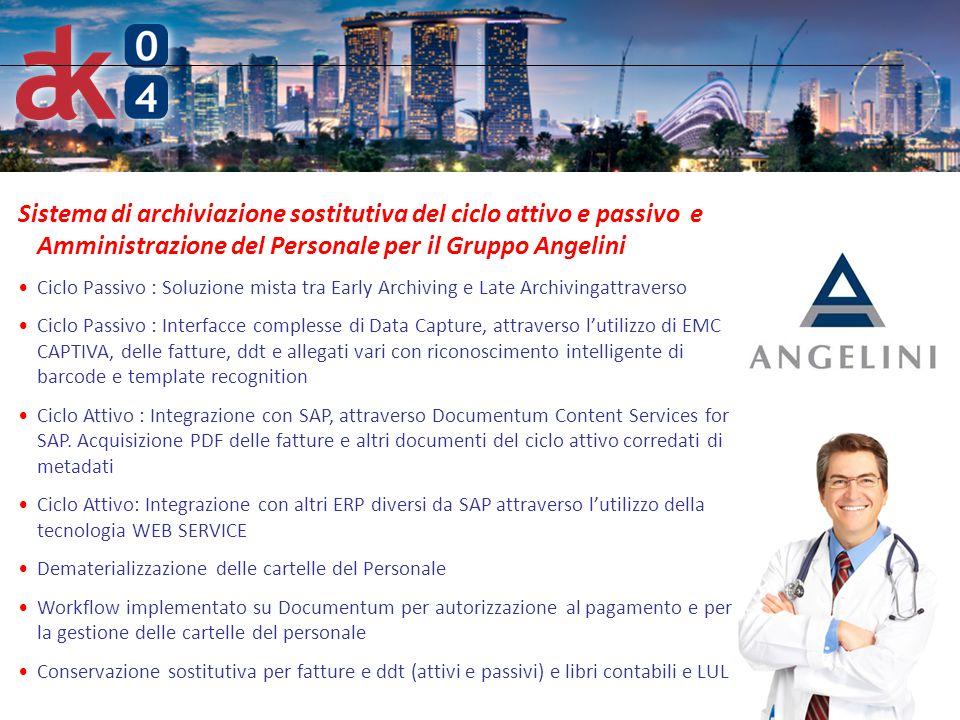 Sistema di archiviazione sostitutiva del ciclo attivo e passivo e Amministrazione del Personale per il Gruppo Angelini