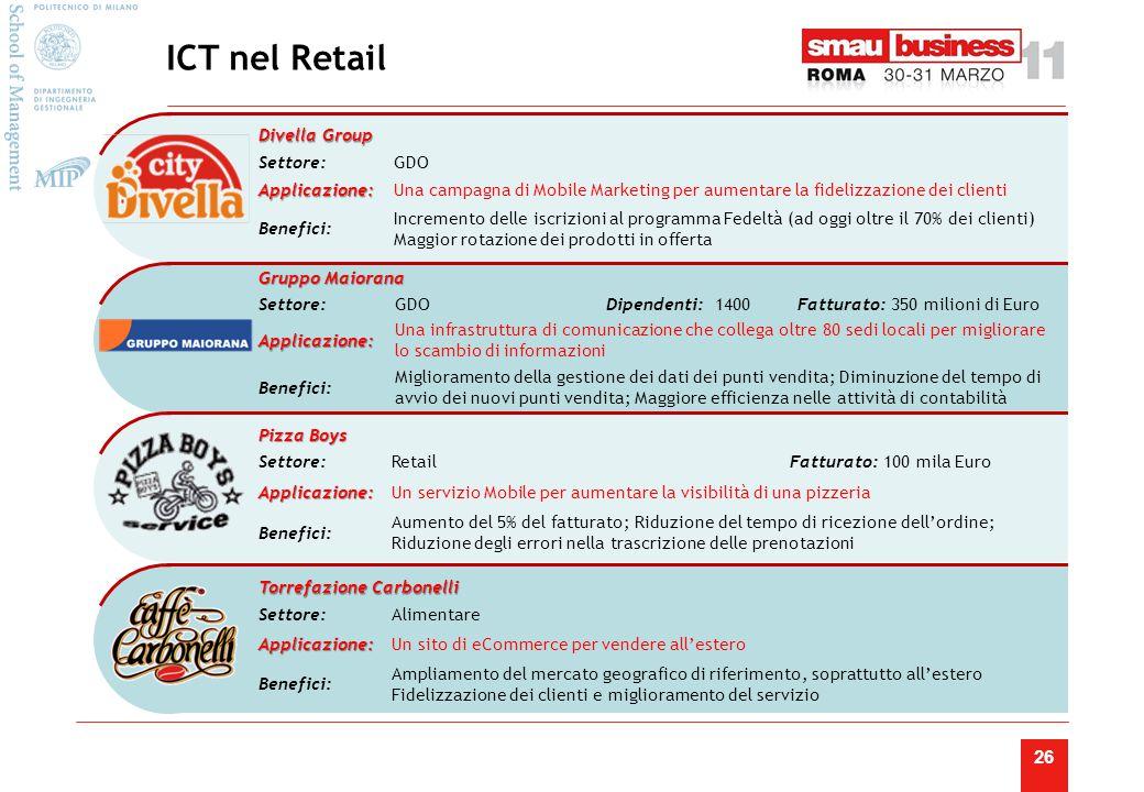 ICT nel Retail Lazio. Una campagna di Mobile Marketing per aumentare la fidelizzazione dei clienti.