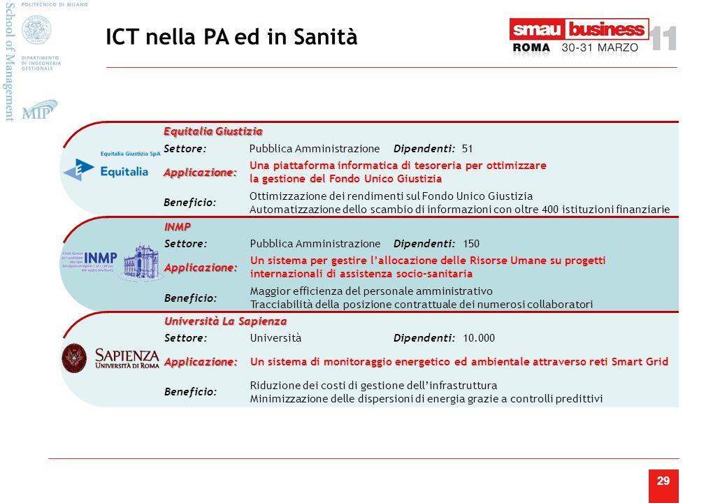 ICT nella PA ed in Sanità