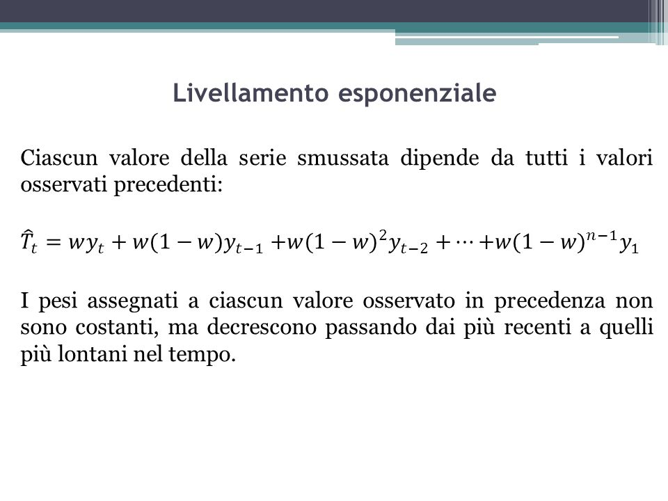 Livellamento esponenziale