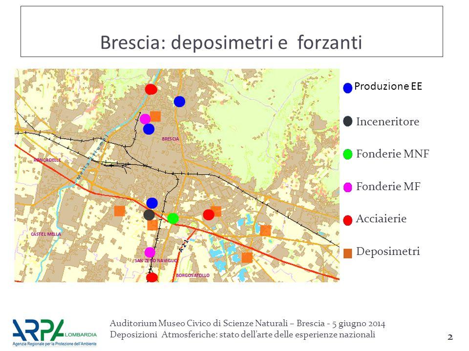 Brescia: deposimetri e forzanti