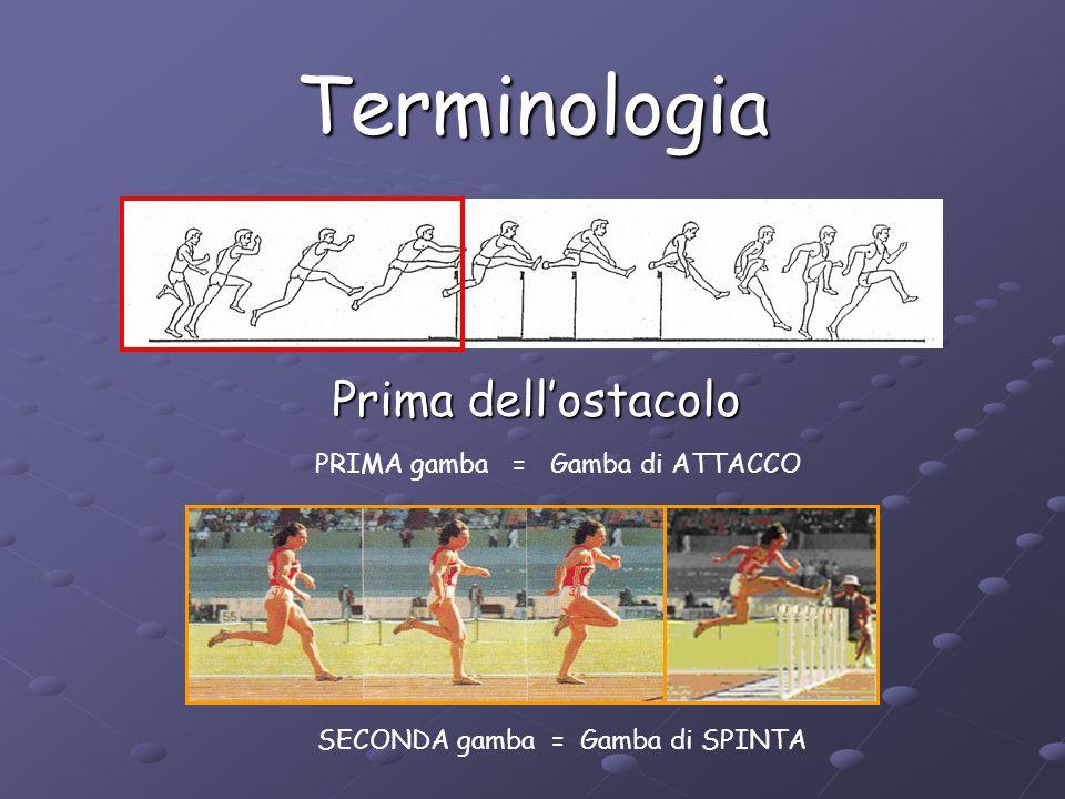 Terminologia Prima dell'ostacolo PRIMA gamba = Gamba di ATTACCO