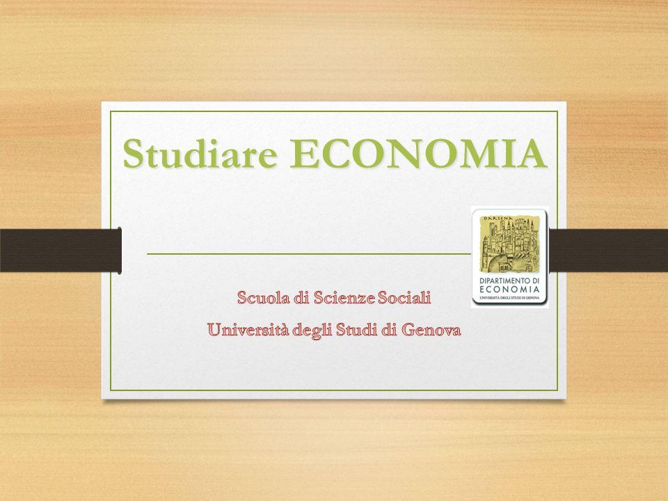 Scuola di Scienze Sociali Università degli Studi di Genova
