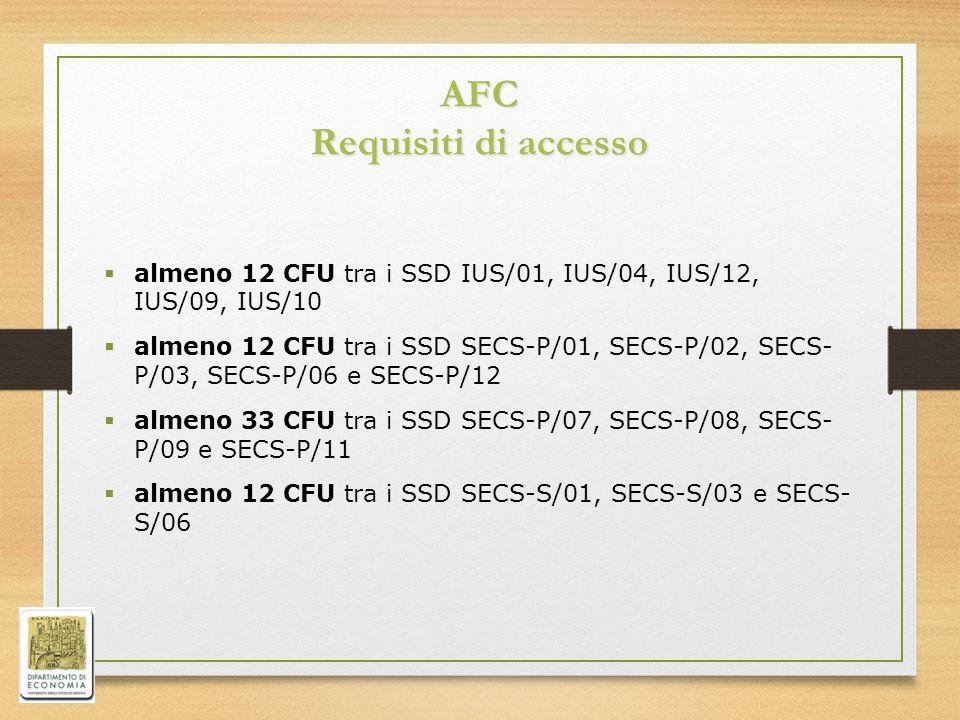 AFC Requisiti di accesso