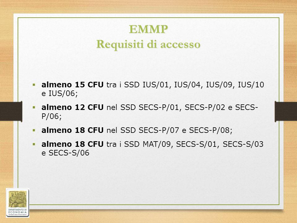 EMMP Requisiti di accesso