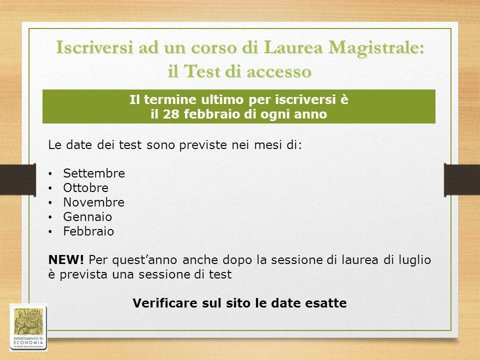 Iscriversi ad un corso di Laurea Magistrale: il Test di accesso