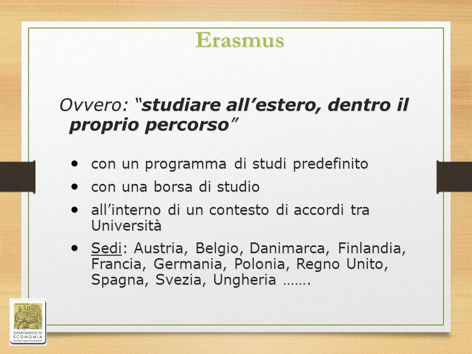 Erasmus Ovvero: studiare all'estero, dentro il proprio percorso