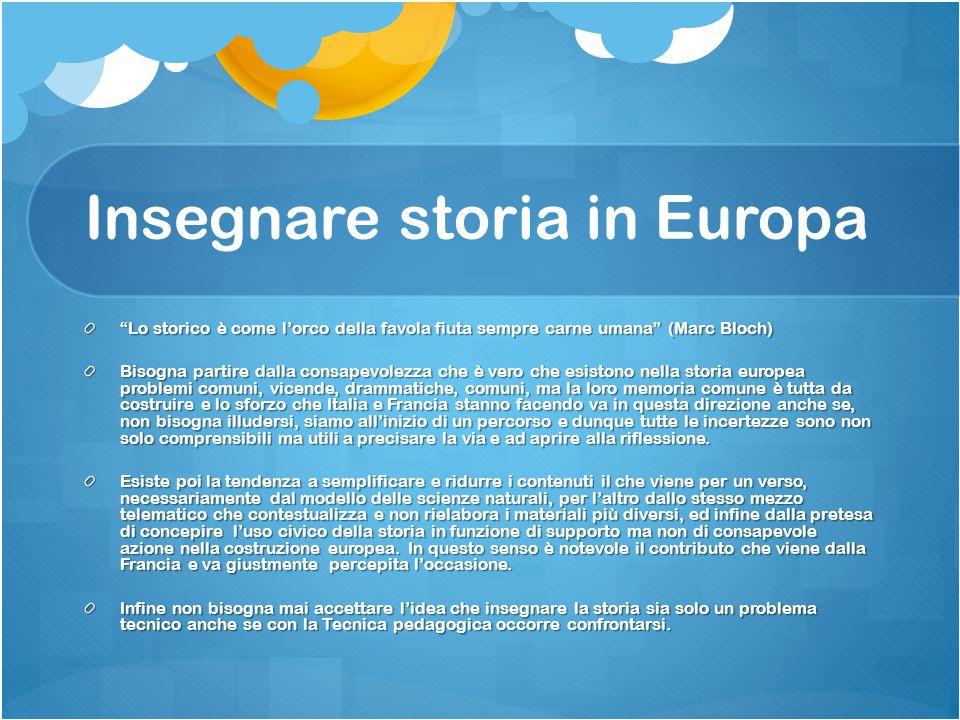 Insegnare storia in Europa