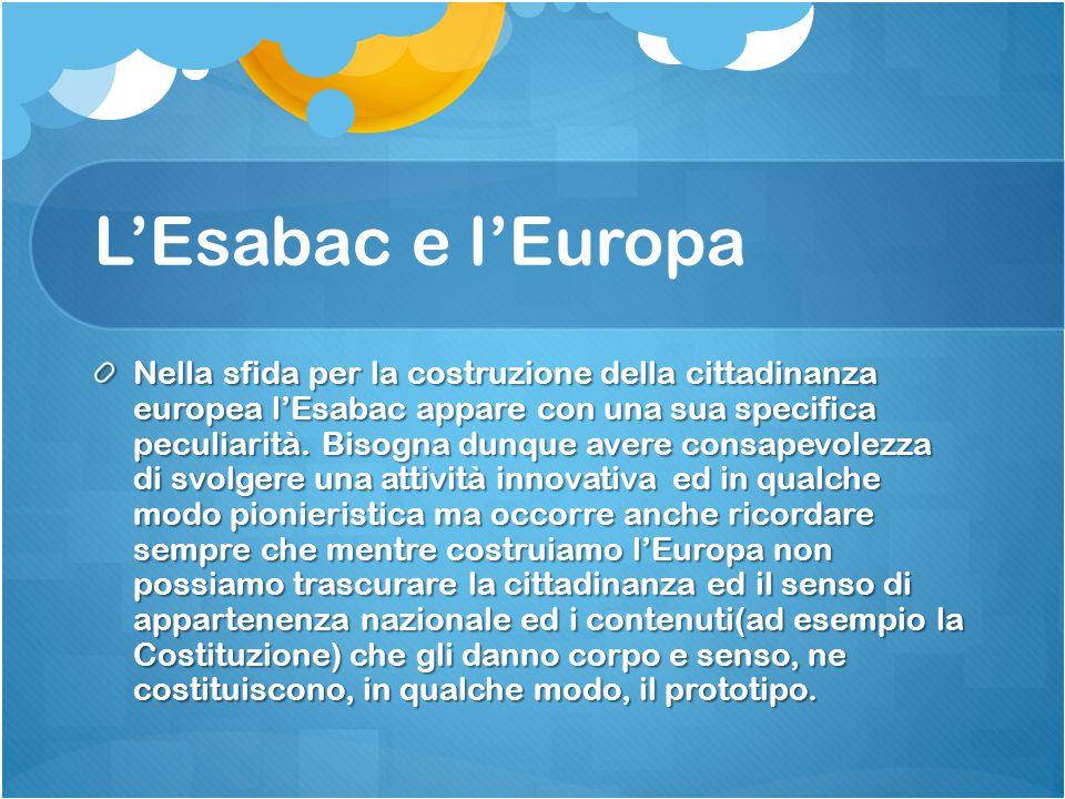 L'Esabac e l'Europa