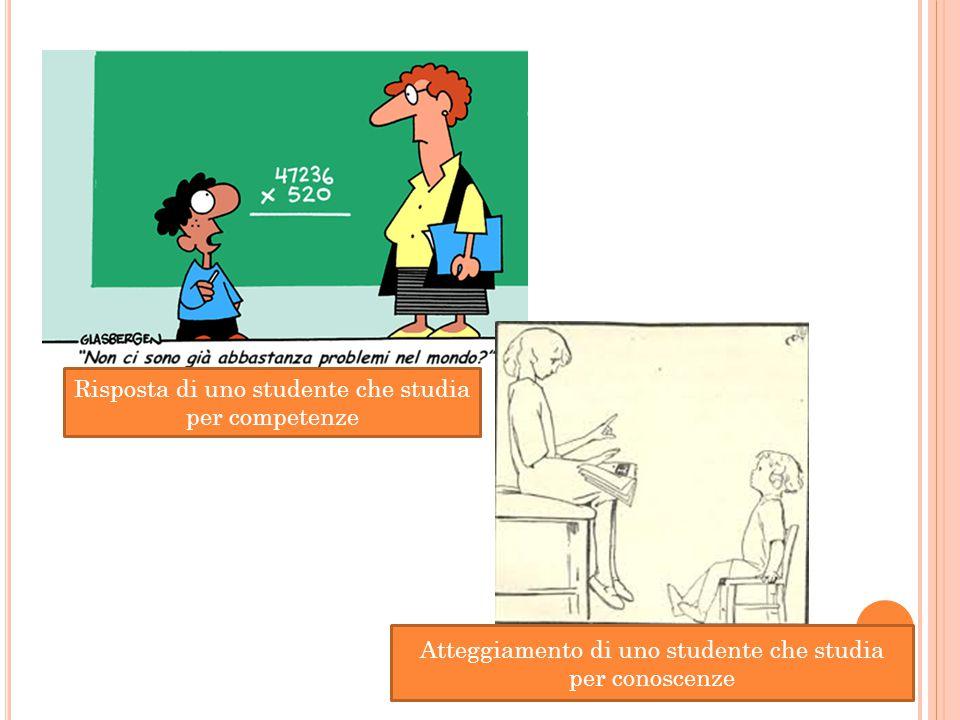 Risposta di uno studente che studia per competenze