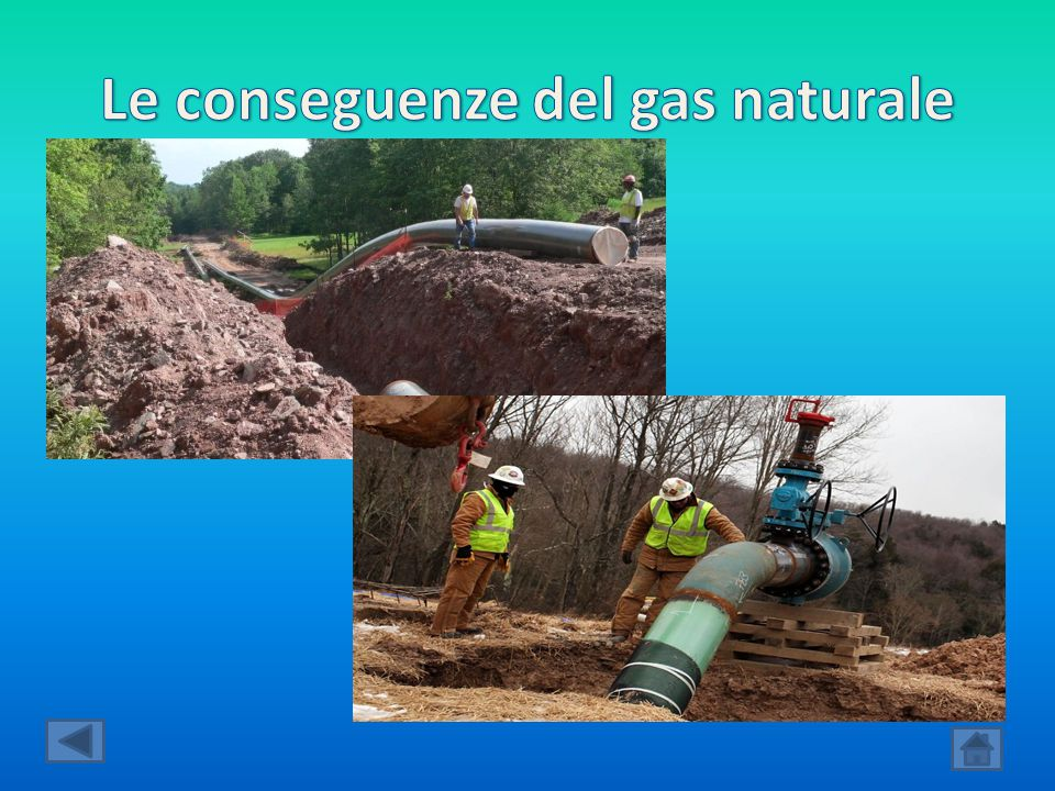 Le conseguenze del gas naturale