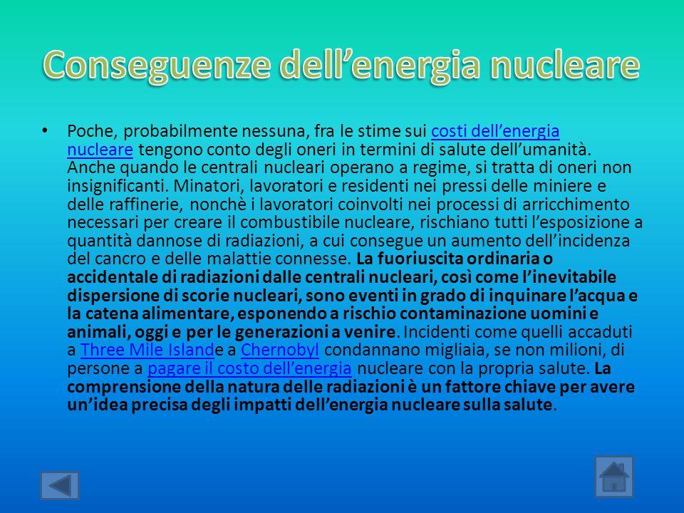 Conseguenze dell'energia nucleare