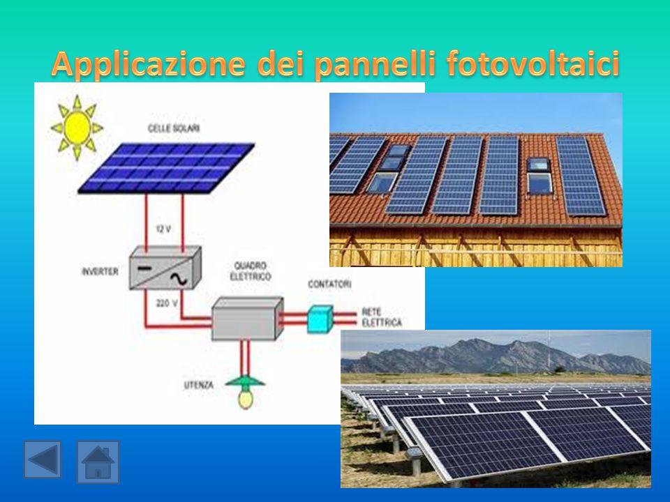 Applicazione dei pannelli fotovoltaici