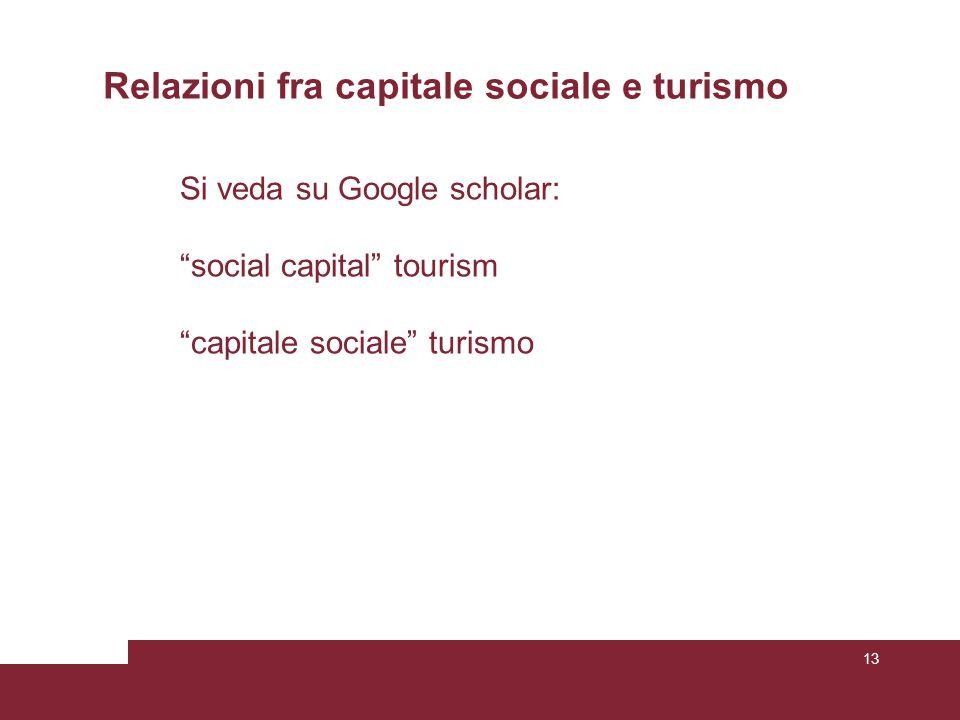 Relazioni fra capitale sociale e turismo