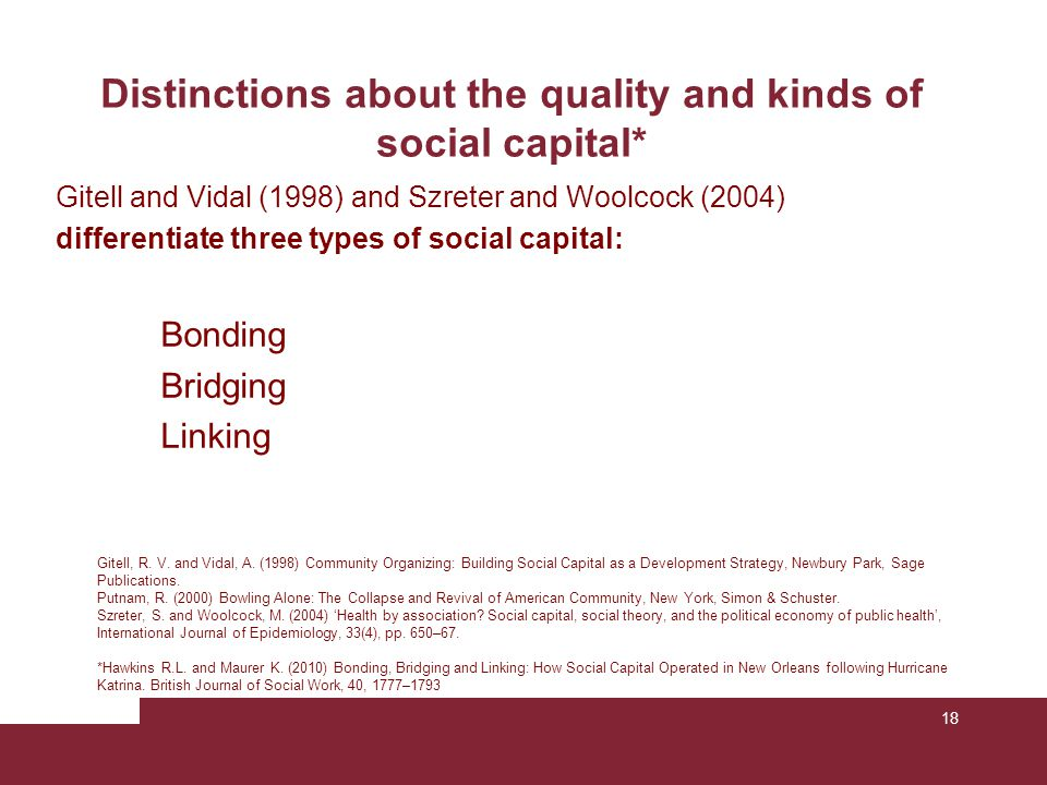 Distinctions about the quality and kinds of social capital*