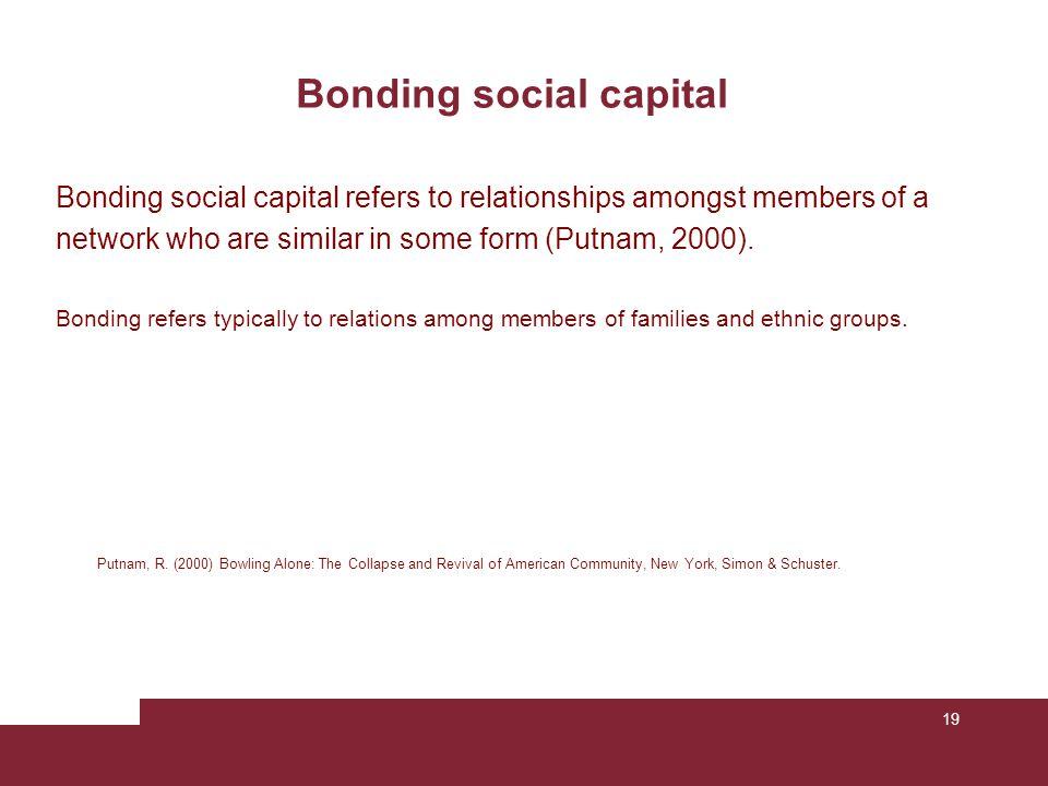 Bonding social capital