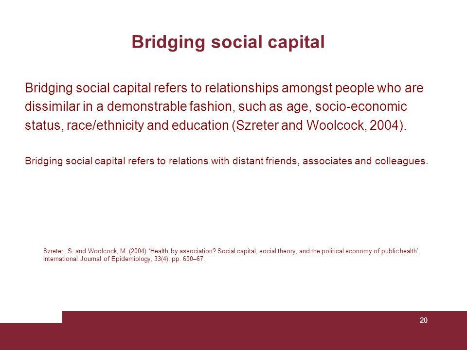 Bridging social capital